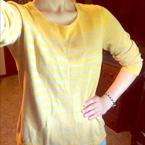 Yellow Striped Sweater